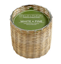 Field + Fleur White Pine Handwoven Candle