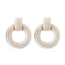 Pearl Doorknocker Earrings