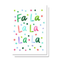 Evelyn Henson Fa La La La La Holiday Card