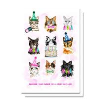 Evelyn Henson Cat Lady Birthday Card