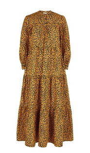 Pink City Prints Georgie Dress, Leopard