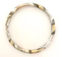 Sheila Fajl Round Bangle, Antique Silver