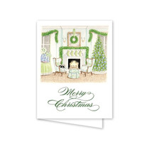 Dogwood Hill Fireplace Christmas Card