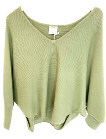 Kerisma Ryu V-neck Sweater, Seaweed
