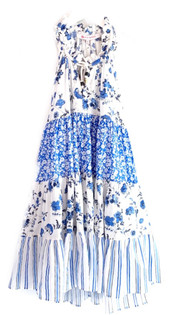 Ro's Garden Short Sofia Dress, Provence Blue