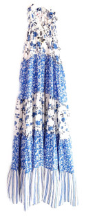 Ro's Garden Sofia Maxi Dress, Provence Blue