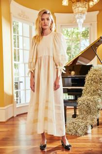 Hunter Bell Bennett Dress, Ivory Moire
