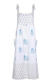 Juliet Dunn Rose Tie Shoulder Dress