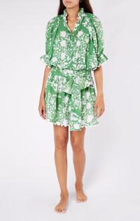 Juliet Dunn Palladio Blouson Dress