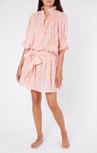 Juliet Dunn Jaipur Pink Blouson Dress
