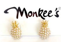 Pearl Pineapple Earrings