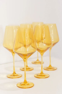 Estelle Colored Stemware Set, Yellow