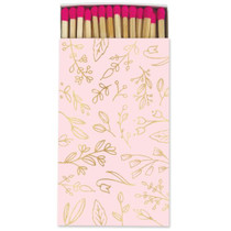 Frankie & Claude Fancy Matchbox, Pink & Gold Floral