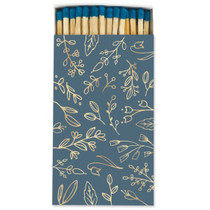 Frankie & Claude Fancy Matchbox, Blue & Gold Floral