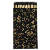 Frankie & Claude Fancy Matchbox, Black & Gold Floral