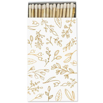 Frankie & Claude Fancy Matchbox, White & Gold Floral