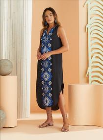 Marie Oliver Ellis Embroidered Dress