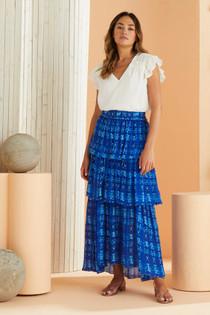 Marie Oliver Andrea Maxi Skirt, Batik Dot