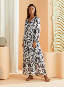 Marie Oliver Luciana Maxi Dress, Navy Tropical