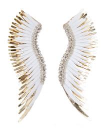 Mignonne Gavigan Madeline Earrings, White/Gold