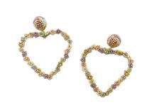 Floral Heart Drop Earrings