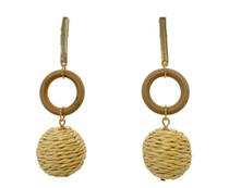 Mod Raffia Drop Earrings, Natural