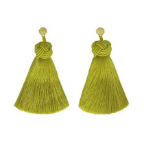 Hart Top Knot Earrings - Chartreuse
