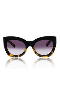 Karen Walker Northern Lights Sunglasses, Black Crazy Tort