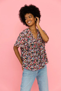 Crosby Poppy Shirt, Ethereal Blooms