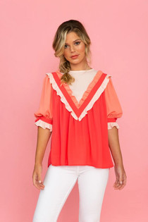 Crosby Addy Top, Rose Mix