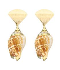 Queen Conch Drop Earrings
