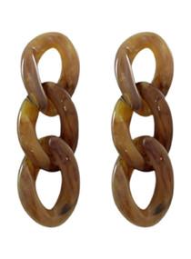 Chain Reaction Earrings, Mocha