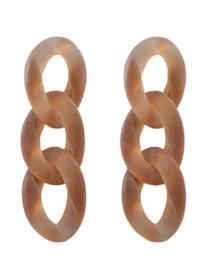 Chain Reaction Earrings, Mauve