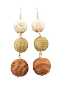 Earth Tone Thread Drop Earrings