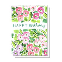 Evelyn Henson Birthday Florals Card