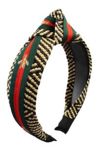 Beech Headband, Black & Tan