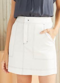 Marie Oliver Braden Skirt, Cool White