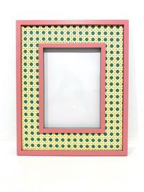 Hampton Cane Frame, Kelly Green & Pink