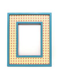 Hampton Cane Frame, Turquoise & Pink