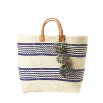 Mar Y Sol Caracas Striped Tote, Navy