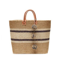 Mar Y Sol Cyprus Striped Tote, Navy