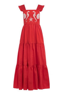 Carolina K Kuna Dress, Red