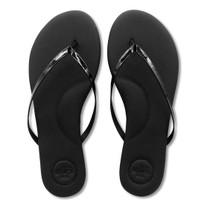 Solei Sea Indie Sandal, Black Patent