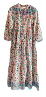Lola Cotteslo Maxi Dress, Vintage Pink and Green