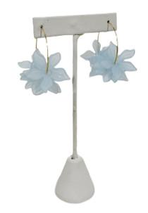 Holst & Lee Floral Hoop, Sky Blue