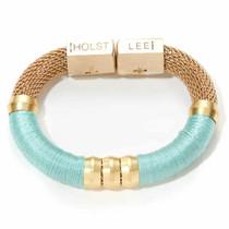 Holst & Lee Mesh Classic Bracelet, Light Turquoise