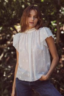 Trovata Carla Shirt, White Embroidered