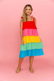 Crosby Beckett Skirt Dress, Colorblock