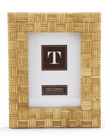 Paradise Cross Hatch Rattan Picture Frame, Small