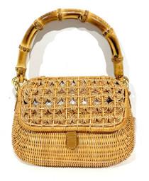 Serpui Brooke Wicker Handbag